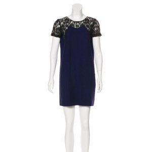 Maje Lace-Accented Dress